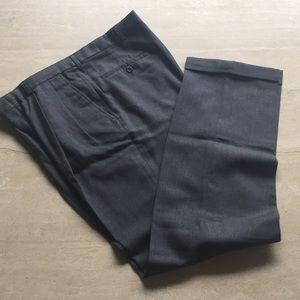 Men's Gray Pleated Dress Slack